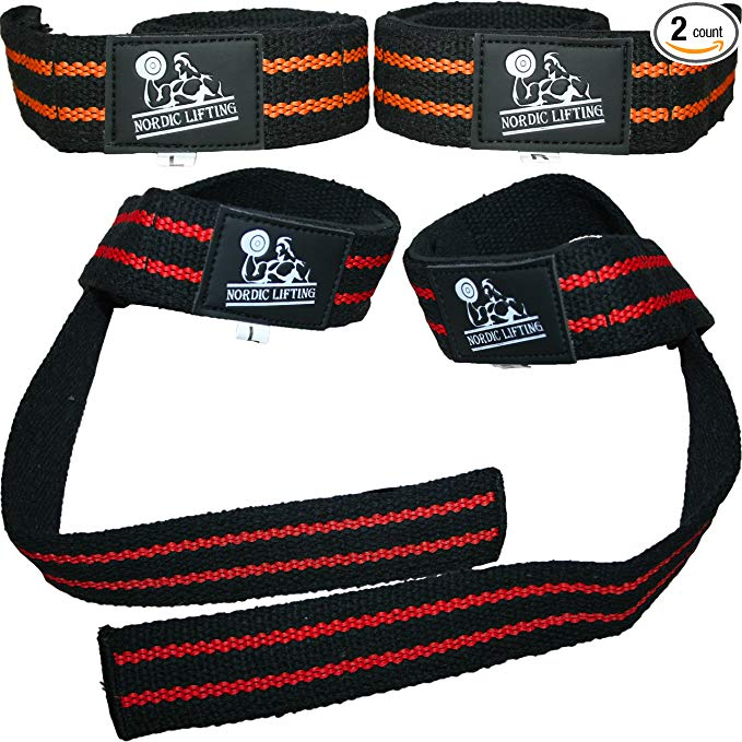 Normally $30, these weightlifting straps are 66 percent off today (Photo via Amazon)