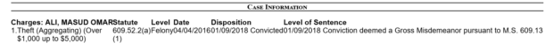 Ali Masud / Minnesota court records