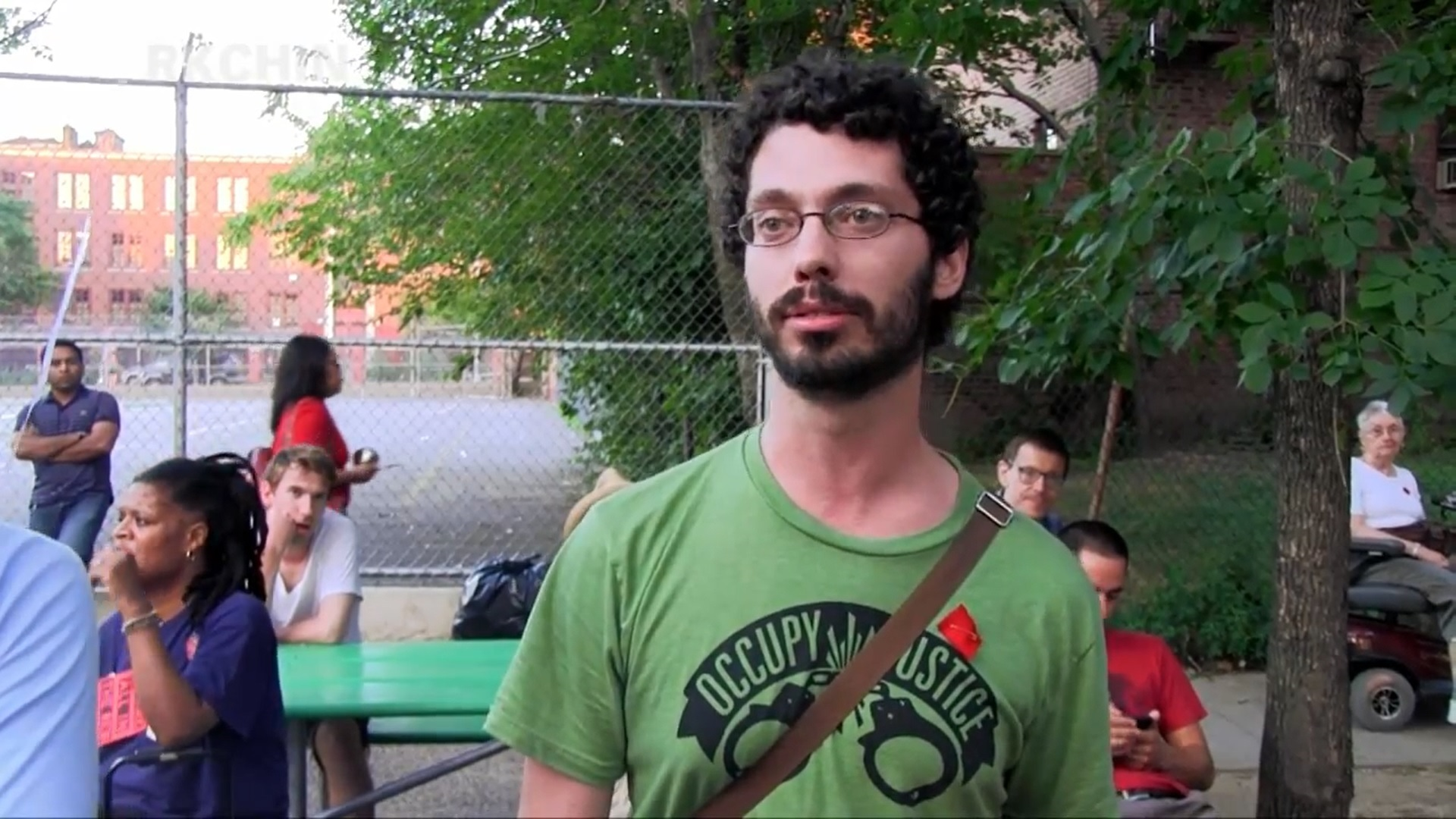 """'Chepe' Leading a """"know your rights"""" legal training in Jackson Heights, Queens, July 22, 2012 (YouTube/Screenshot)"""