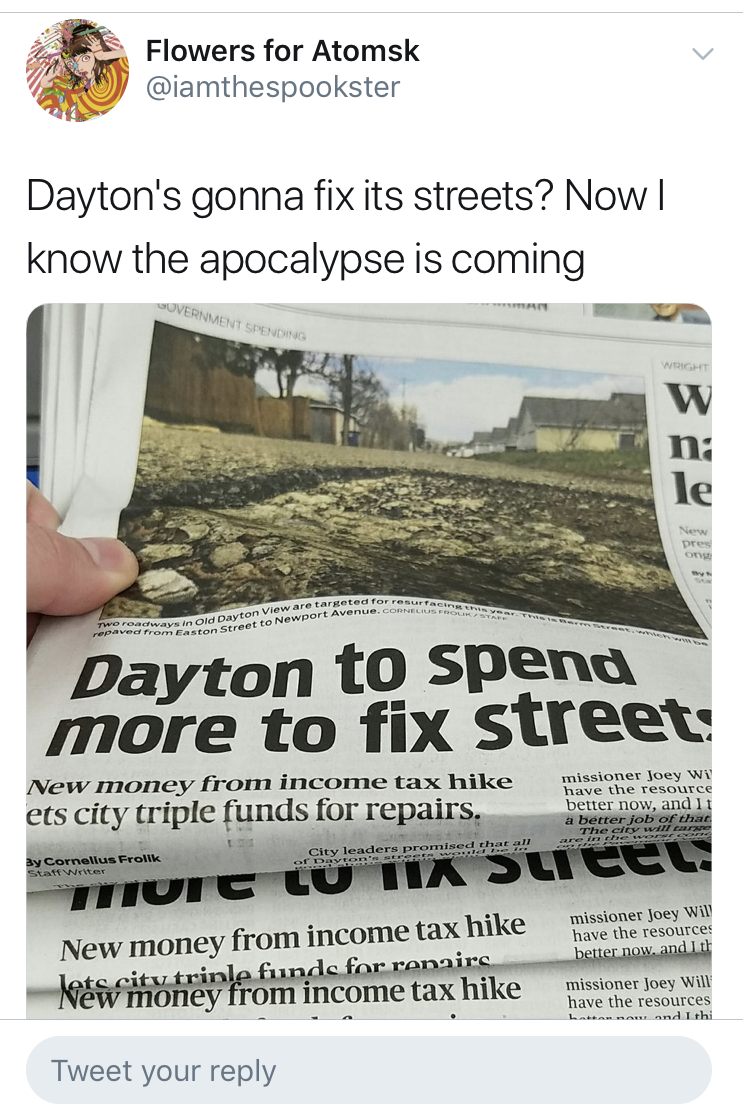 Betts tweeted out about Dayton, Ohio, which is where the shooting occurred. (Screenshot Twitter/@iamthespookster)